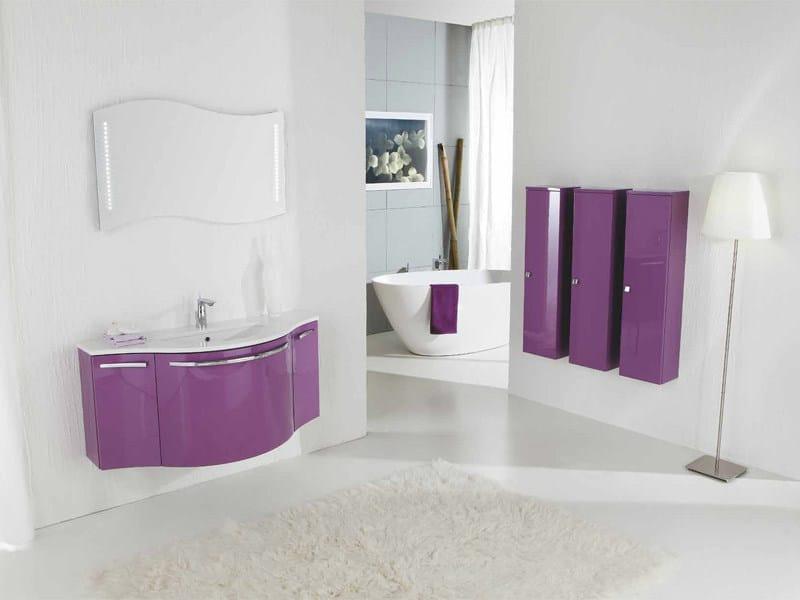 Lacquered vanity unit with drawers GENIUS G216 - LEGNOBAGNO