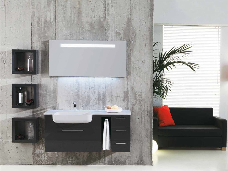 Wall-mounted vanity unit with drawers GENIUS G217 - LEGNOBAGNO