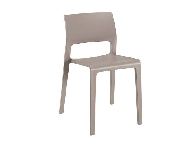 Stackable polypropylene chair JUNO | Stackable chair by arper