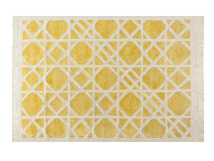 Patterned rectangular rug CANNAGE - ROCHE BOBOIS