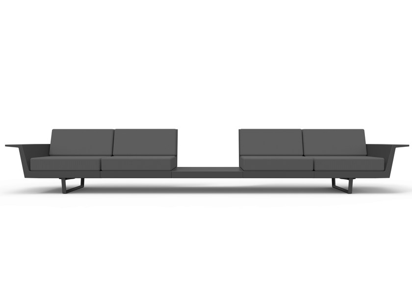 Sectional garden sofa FLAT - VONDOM