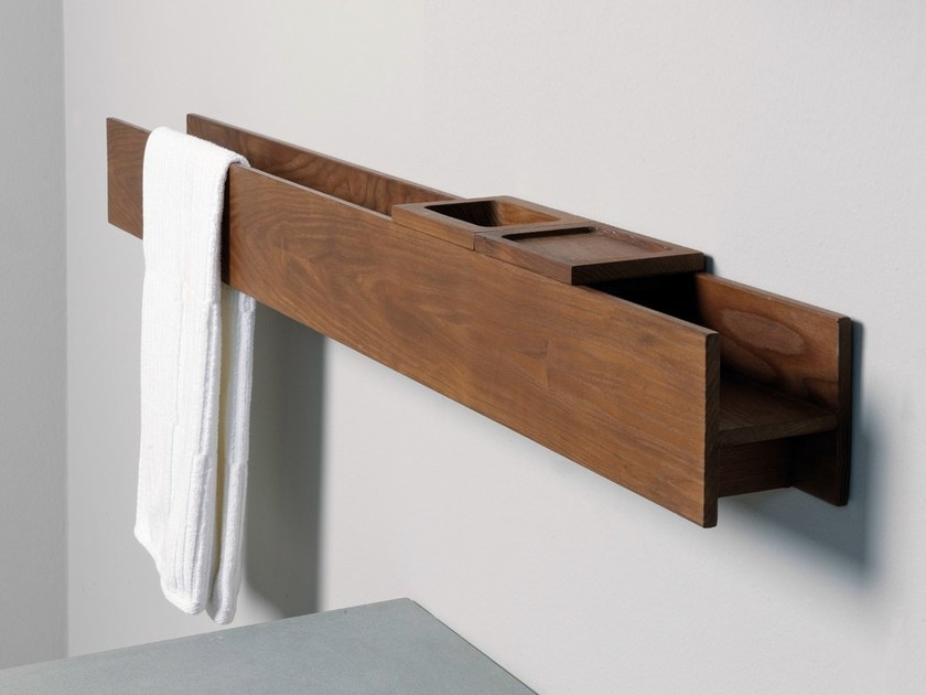 Ash towel rail TERMOTRATTATO | Towel rack - GD Arredamenti