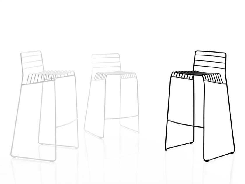 Sled base steel counter stool PARK | Counter stool - B-LINE