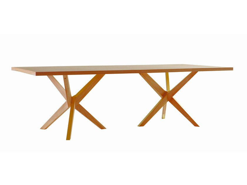 Rectangular wooden table jane by roche bobois design christophe delcourt - La roche bobois table ...