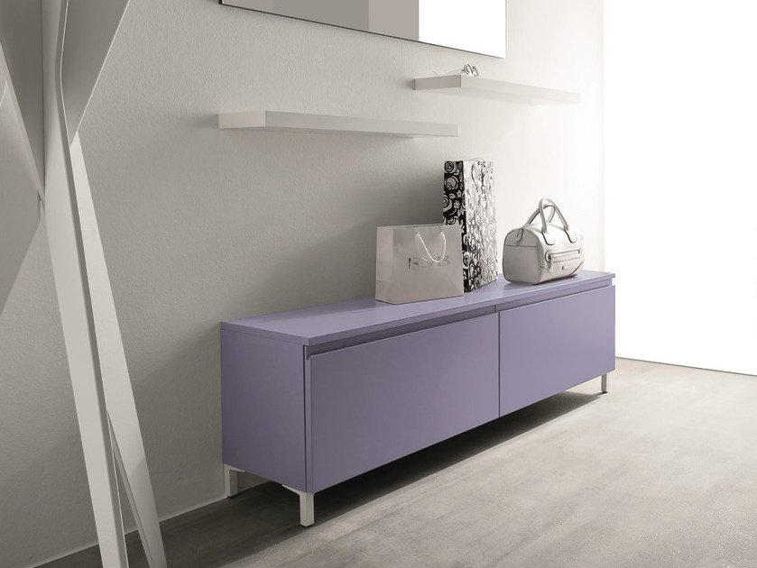 Free standing lacquered hallway unit LOGIKA | Free standing hallway unit - Birex