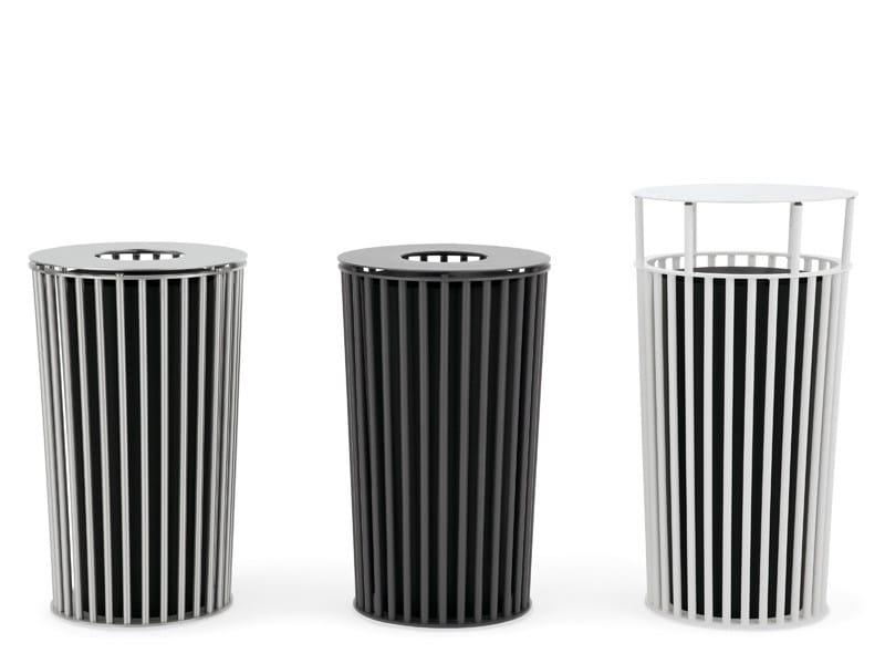 Outdoor metal waste bin with lid ZEROQUINDICI.015 | Waste bin with lid - Diemmebi