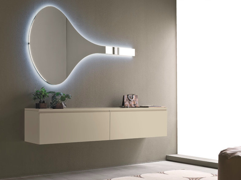 Wall-mounted lacquered hallway unit LOGIKA | Wall-mounted hallway unit - Birex
