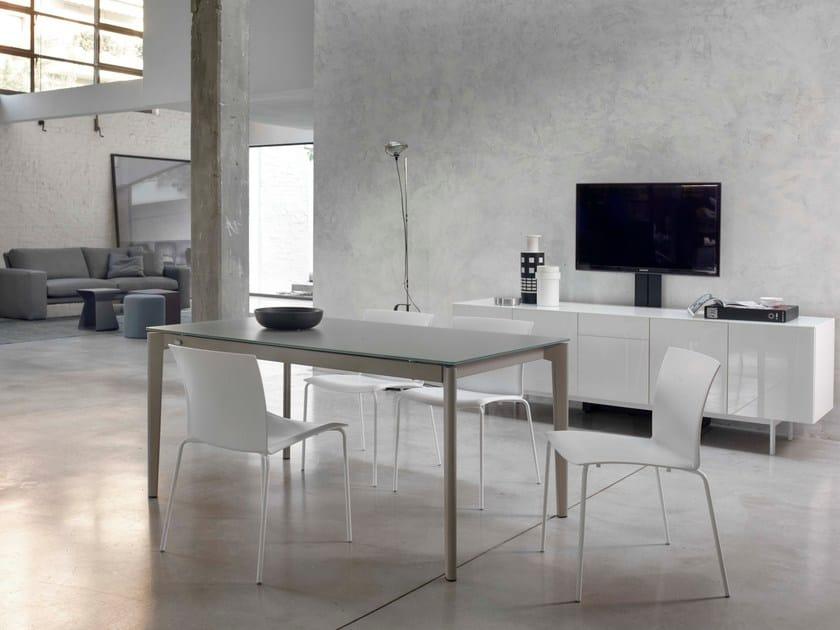 Extending rectangular table DOTO | Crystal table - Bontempi Casa