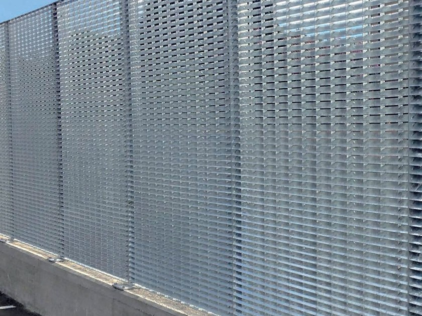 Modular screening steel Fence SUN SCREEN - GRIDIRON GRIGLIATI