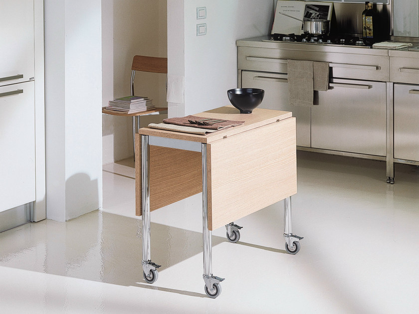 Drop-leaf table with casters FLASH - Bontempi Casa