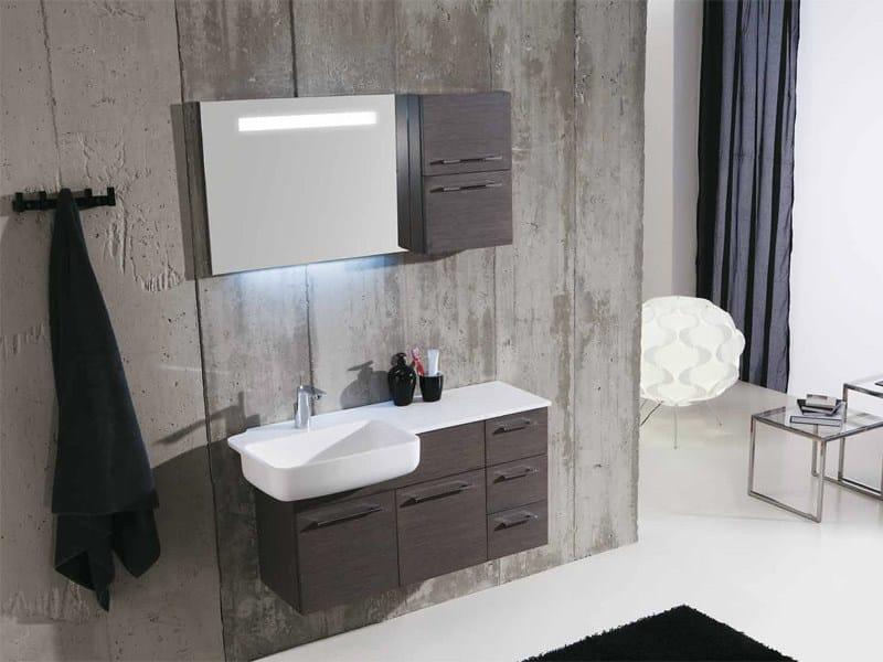 Wooden vanity unit with drawers GENIUS G218 - LEGNOBAGNO