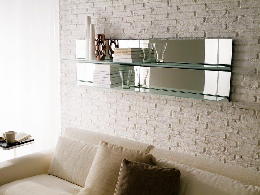 Specchio mensola in cristallo eidos specchio a parete bontempi - Specchio break bontempi ...