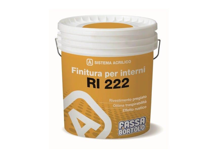 Acrylic breathable decorative painting finish RI 222 - FASSA