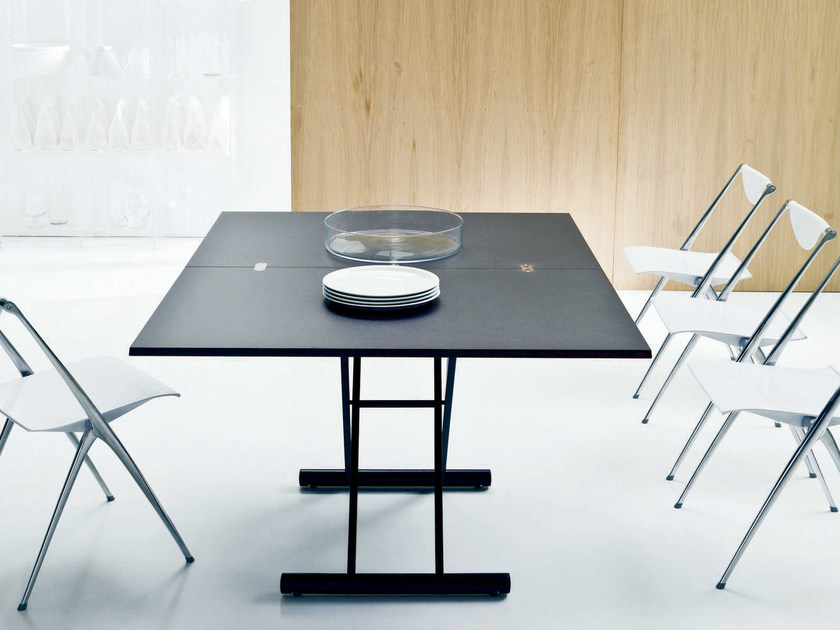 Extending table UGO | Steel and wood table - Bontempi Casa