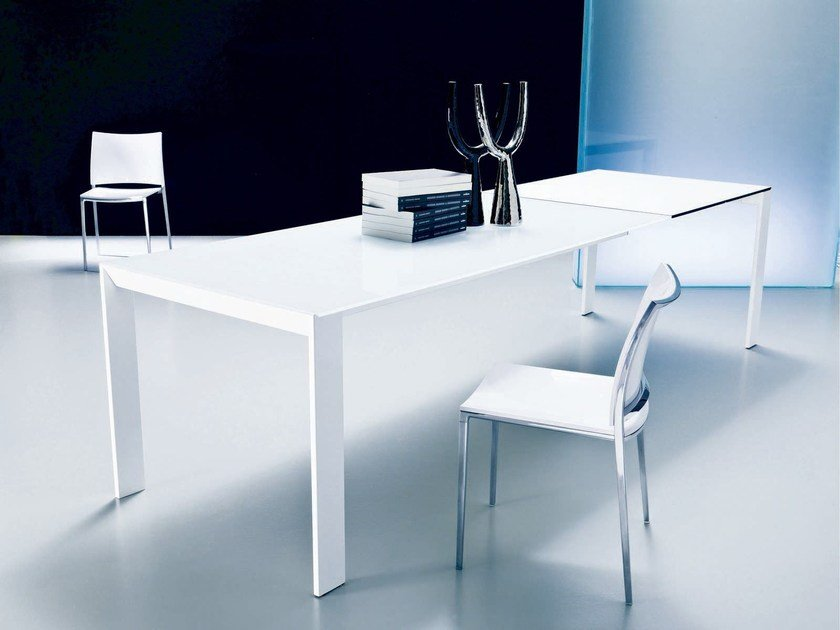 Crystal and steel living room table PRINCE - Bontempi Casa