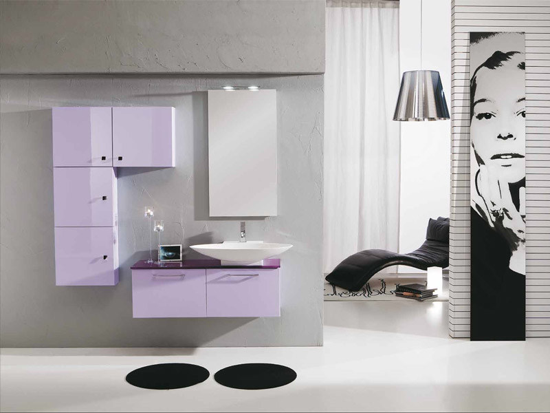 Lacquered vanity unit with drawers GENIUS G225 by LEGNOBAGNO