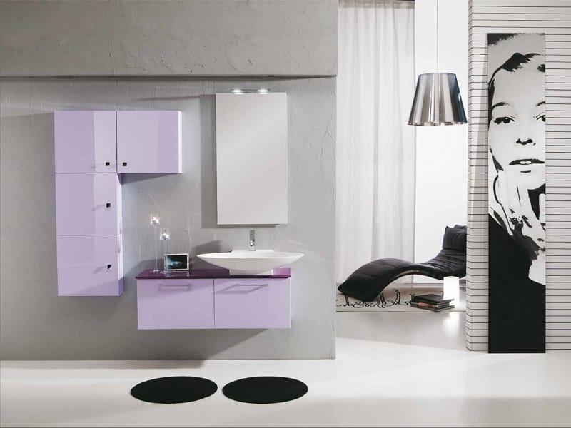 Lacquered vanity unit with drawers GENIUS G225 - LEGNOBAGNO