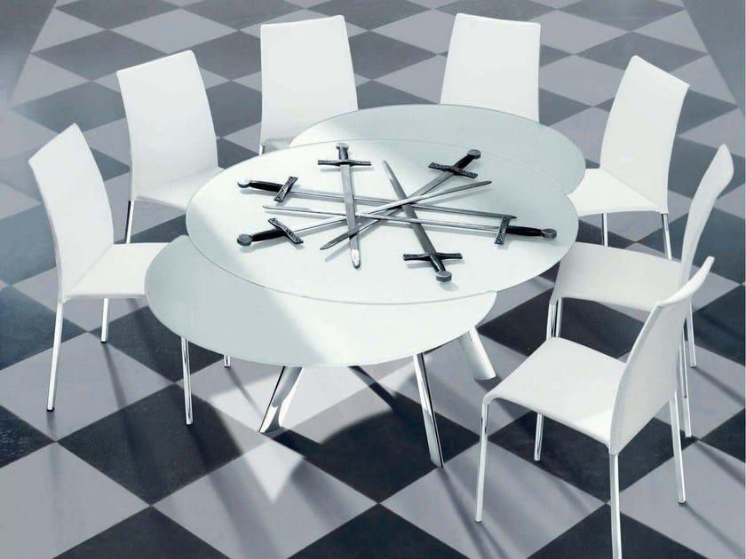 tavolo allungabile in cristallo giro tavolo rotondo