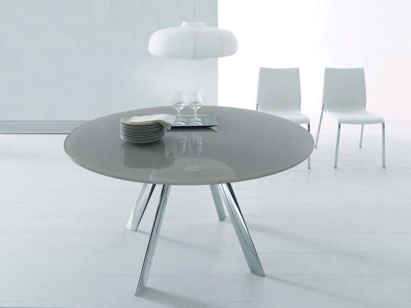 Extending crystal table GIRO | Round table - Bontempi Casa