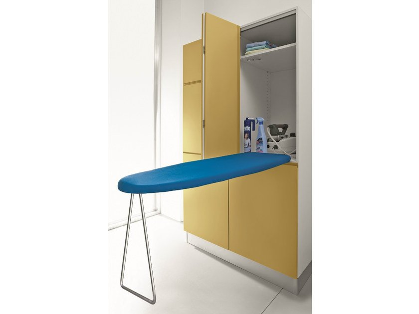 Tall laundry room cabinet with ironing board IDROBOX | Laundry room cabinet with ironing board - Birex