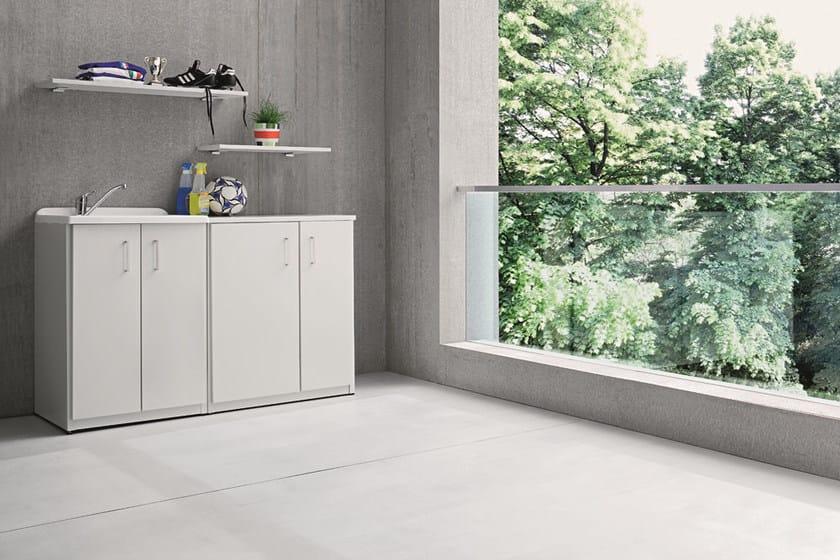braccio di ferro waschk che schrank mit integriertem waschbecken by birex. Black Bedroom Furniture Sets. Home Design Ideas