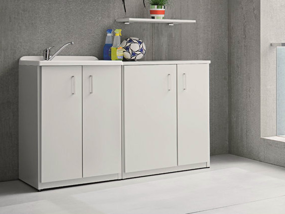 Outdoor laundry room cabinet with sink BRACCIO DI FERRO | Laundry room cabinet with sink by Birex