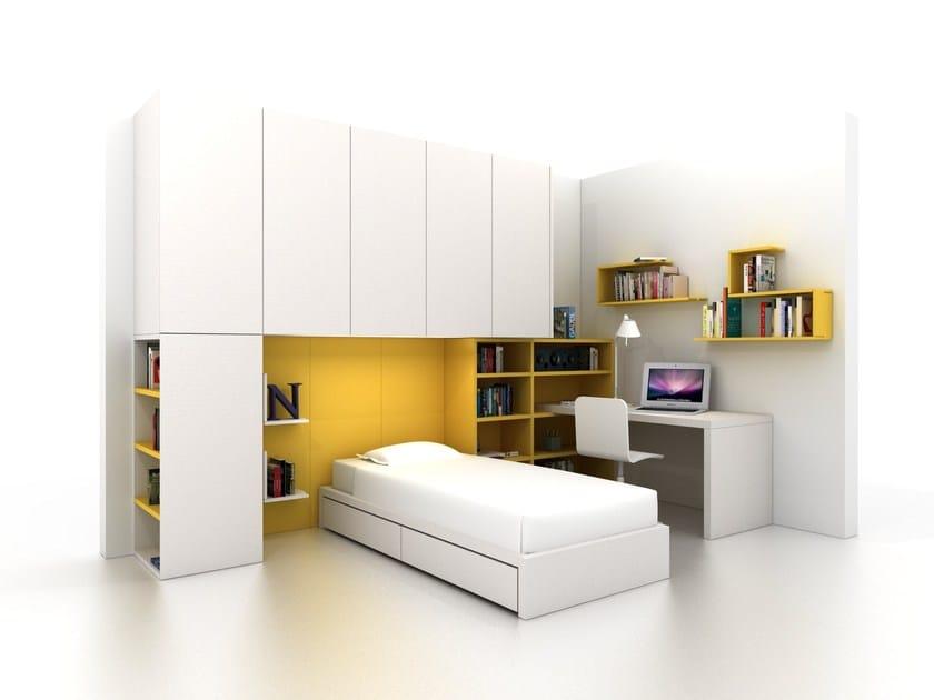 cameretta a ponte componibile per ragazzi z406 zalf. Black Bedroom Furniture Sets. Home Design Ideas