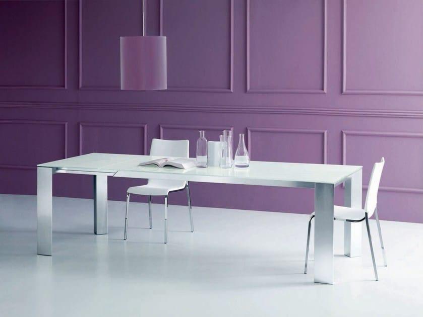 Extending rectangular table NEW EDRO - Bontempi Casa