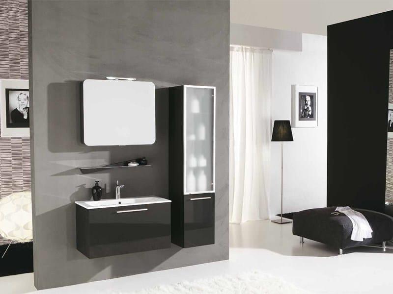 Mobile lavabo laccato con cassetti genius g232 by legnobagno - Legnobagno prezzi ...