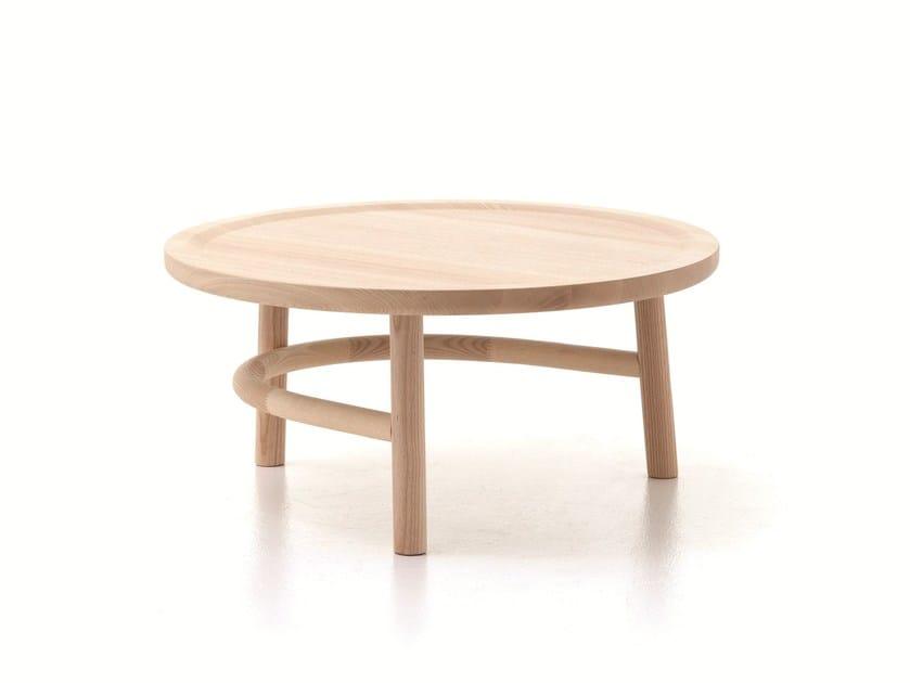 Tavolino Rotondo Legno Essenza Bim : Tavolino basso rotondo in legno unam