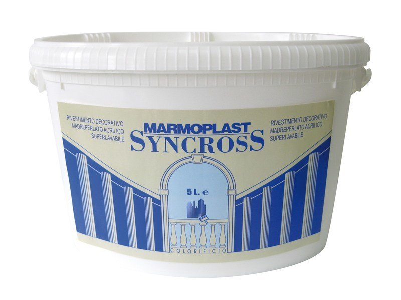 peinture d corative acrylique lavable syncross tamponato by colorificio marmoplast. Black Bedroom Furniture Sets. Home Design Ideas