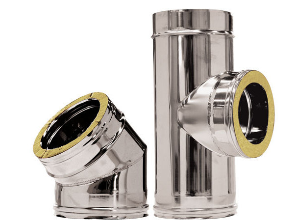 Stainless steel flue Twin wall - Stainless steel - CORDIVARI