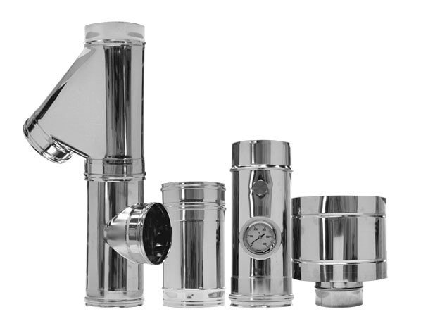 Stainless steel flue Single skin chimney flues by CORDIVARI
