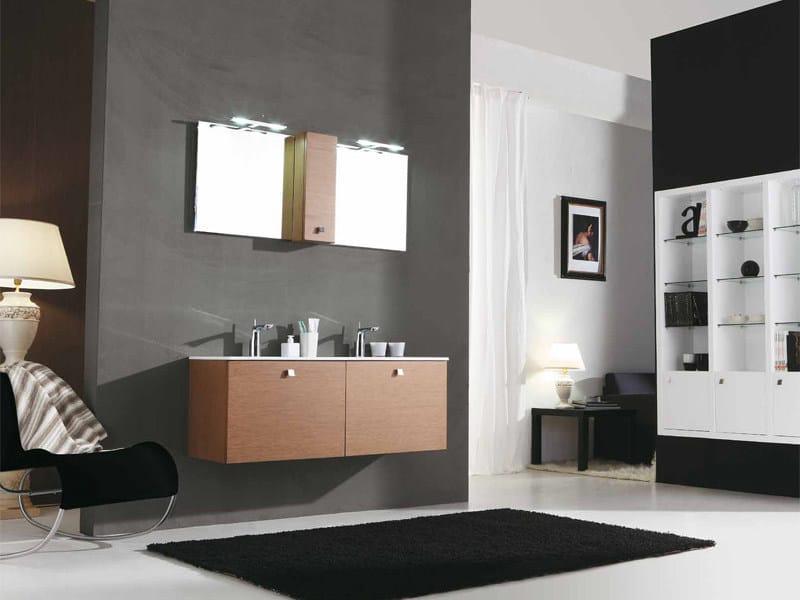 Double vanity unit with drawers GENIUS G234 by LEGNOBAGNO