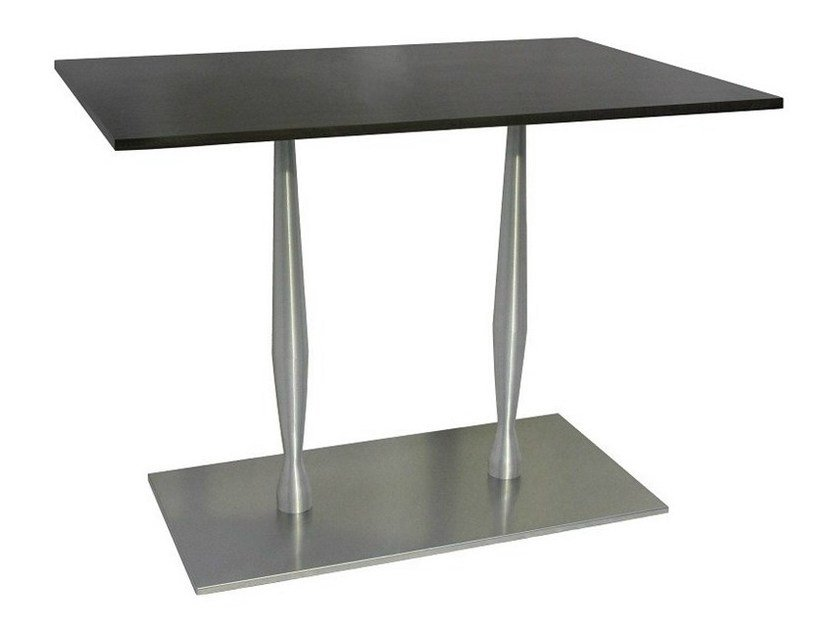 Rectangular stainless steel contract table SLOGI-84-2-XAS | Stainless steel table by Vela Arredamenti