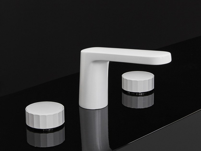 3 hole washbasin tap with matt finishing TEXTURE | 3 hole washbasin mixer - FIMA Carlo Frattini