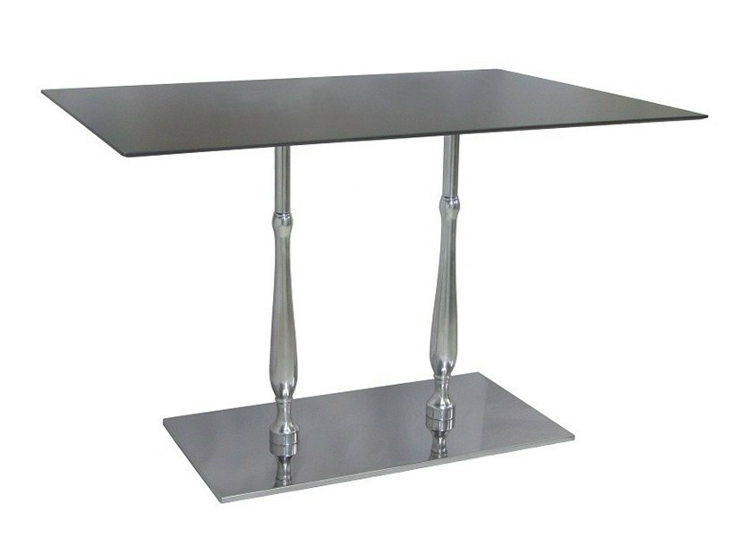 Rectangular stainless steel contract table ECLISSE-84-2 - Vela Arredamenti