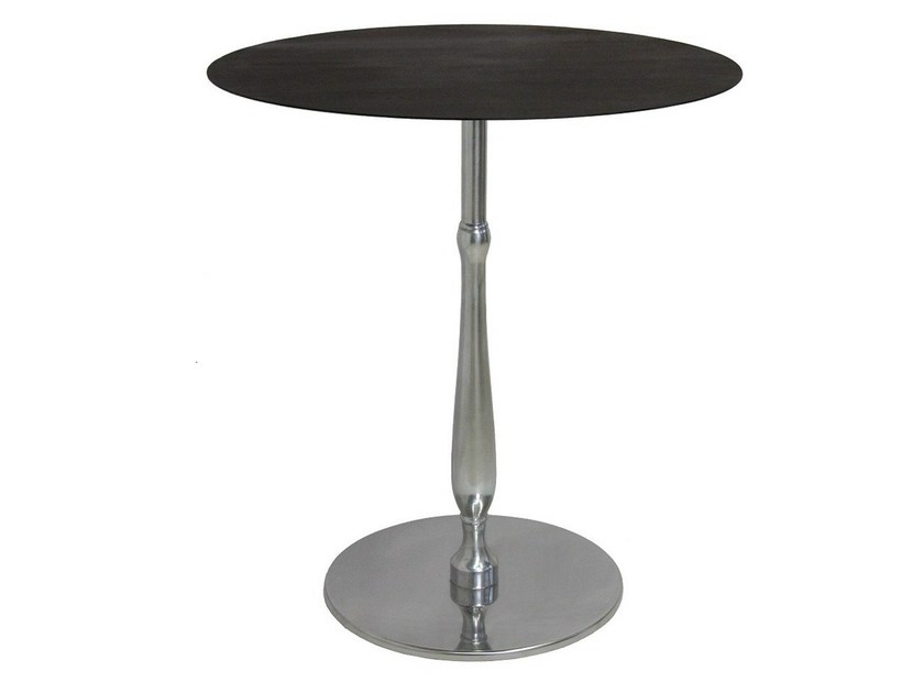 Round stainless steel contract table ECLISSE - Vela Arredamenti