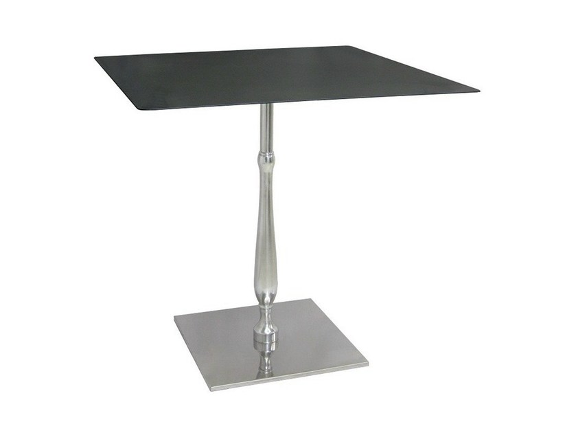 Square stainless steel contract table ECLISSE-44 by Vela Arredamenti