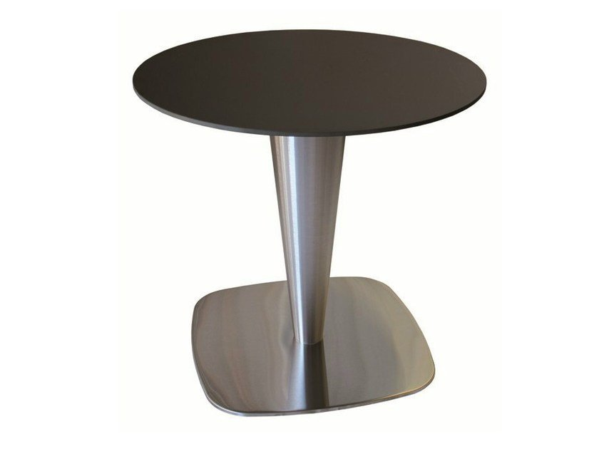 Stainless steel contract table RONDOGEL by Vela Arredamenti