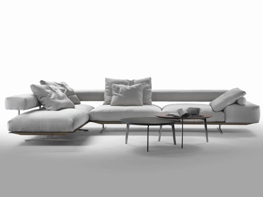 Corner fabric sofa with removable cover WING | Corner sofa - FLEXFORM
