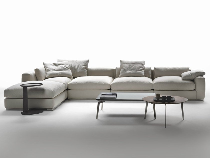 Corner sectional fabric sofa BEAUTY | Corner sofa - FLEXFORM