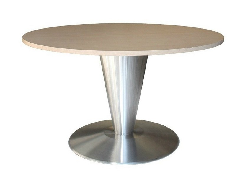 Round stainless steel contract table LISGEL by Vela Arredamenti
