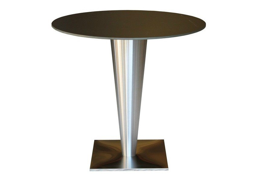 Square stainless steel contract table SLIGEL-44 - Vela Arredamenti