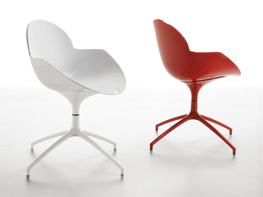 Swivel polycarbonate chair COOKIE | Swivel chair - Infiniti