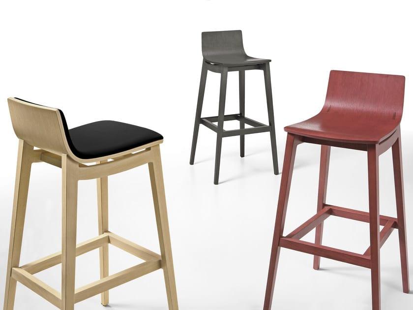 Wooden stool EMMA | Stool - Infiniti