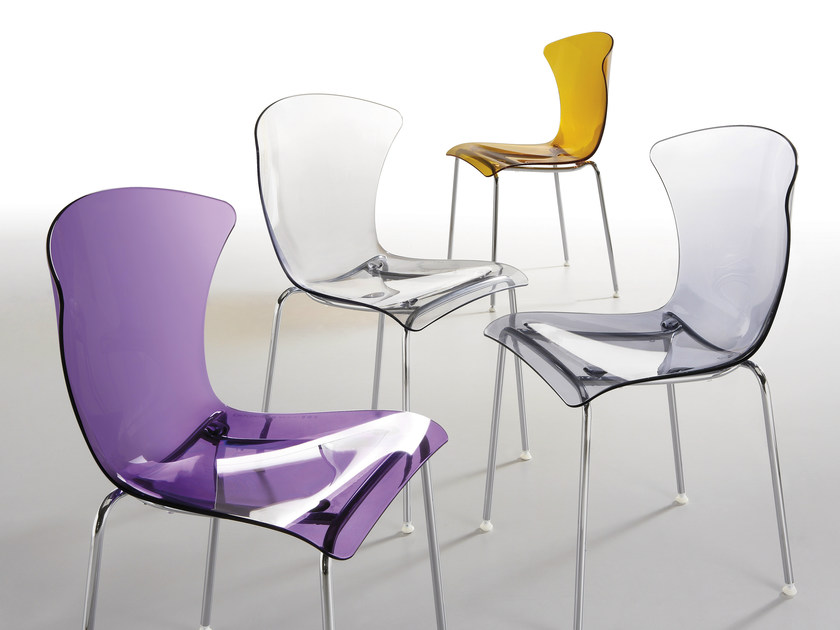 Stackable polycarbonate chair GLOSSY | Polycarbonate chair by Infiniti