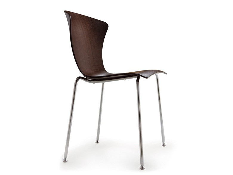 Stackable multi-layer wood chair GLOSSY | Multi-layer wood chair - Infiniti