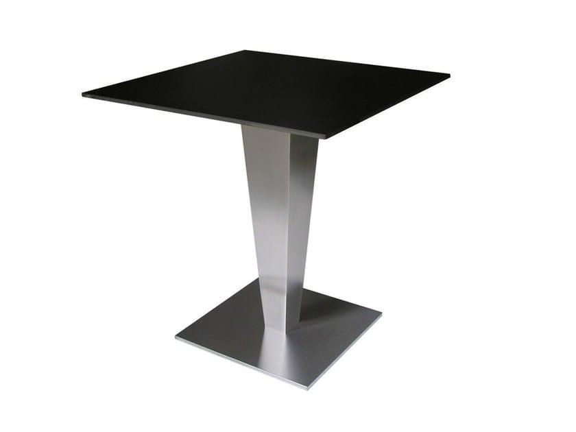 Square stainless steel contract table SLIPOT - Vela Arredamenti