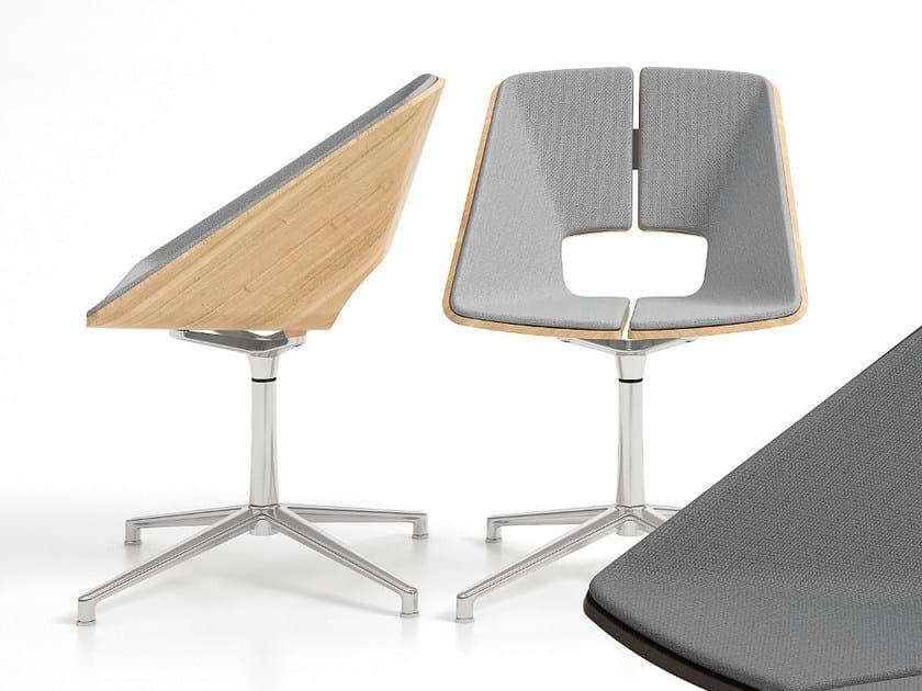 Swivel chair with 4-spoke base HUG | Chair with 4-spoke base by Infiniti